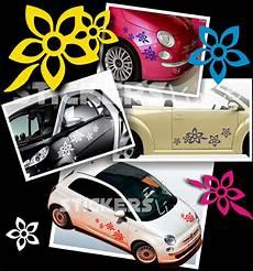 adesivi fiori per auto kit adesivi fiori 2 smart fiat 500 car flowers stickers ebay