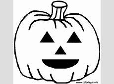 Coloriage Dessin D Une Citrouille D Halloween dessin