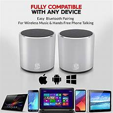 True Wireless Mini Portable Dual Wireless by 2 Pack Headsound H2 True Wireless Bluetooth Speakers