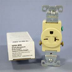 Cooper Ivory Commercial Single Outlet Receptacle Nema 6