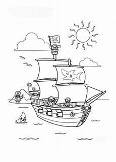 malvorlagen zum drucken ausmalbild piratenschiff kostenlos 3