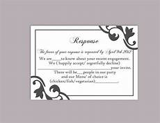 rsvp card template diy wedding rsvp template editable text word file instant