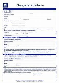 Formulaire Changement D Adresse La Banque Postale Modele