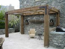 rustic timber pergola love the simple but with less roof beams so it doesn t block