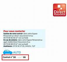 direct assurance numero attestation de responsabilit 233 civile matmut