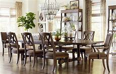 compass 104 quot trestle dining table by bassett furniture
