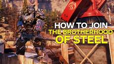 of steel fallout 76 how to join the brotherhood of steel