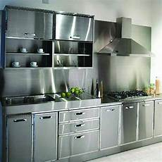 Metal Kitchen Furniture Stainless Steel Kitchen Cabinet At Rs 70000