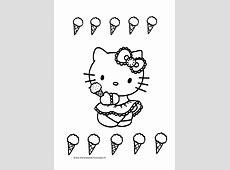 Hello Kitty Kleurplaat IJsje   Kleurplaten voor jou