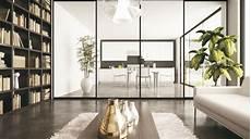 separation cuisine salon en verre maison parallele