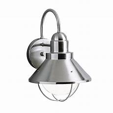 kichler seaside 12 in h brushed nickel dark sky outdoor wall light at lowes com