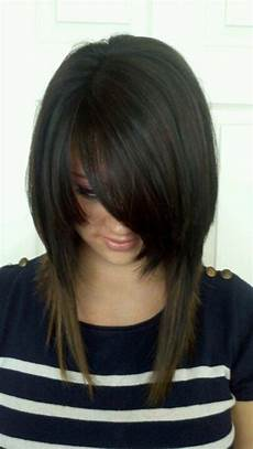 long inverted bob hairstyle for black hair inverted bob