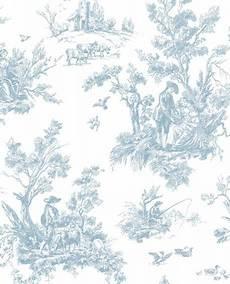 toile de jouy papier peint papier peint lutece abby toile de jouy bleu ab27656