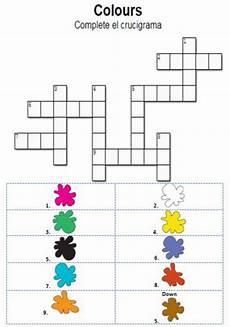 colors crossword worksheets 12726 colours crosswords interactive worksheet