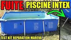 reparer une piscine hors sol piscine qui fuit r 233 parer une fuite trou intex test du kit