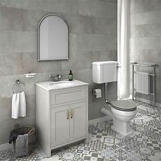 Chatsworth Grey White Marble 4 Low Level Bathroom