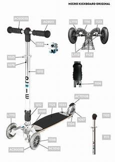 pi 232 ces d 233 tach 233 es pour kickboard original micro mobility