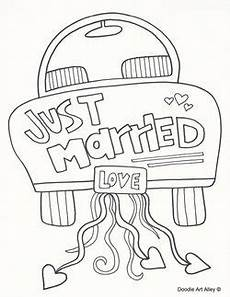 just married coloring page hochzeitsplanung kindertisch