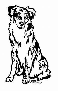 Ausmalbilder Hunde Border Collie Australian Shepherd Grafiklizenz