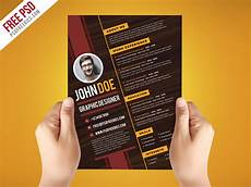 free psd creative graphic designer resume template on