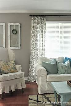 no sew tutorial curtains shades of blue interiors