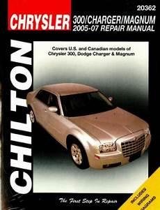 car repair manuals download 2009 dodge charger head up display chilton chrysler 300 dodge charger and magnum 2005 2009 repair manual