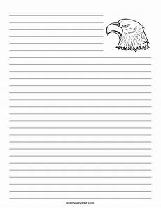free coloring pages lined paper 17689 eagle stationery and writing paper http stationerytree eagle stationery