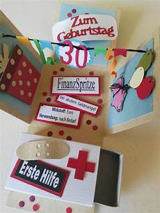 explosionsbox zum 30 geburtstag geschenke diy 30