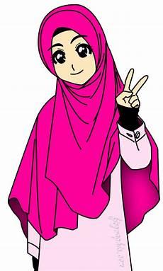 Inspirasi Terbaru 40 Gambar Kartun Muslimah Untuk Profil Wa