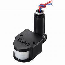 outdoor infrared pir motion sensor detector led wall light l switch 140 176 220v ebay