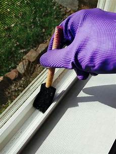 cleaning window tracks is easy with a pinesol solution and