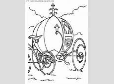 Coloriage Carrosse de princesse magnifique dessin gratuit