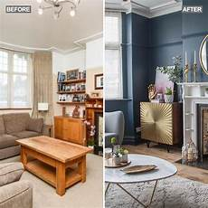livingroom accessories living room makeover with blue walls pink sofa and