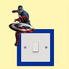captain america light switch wall art funny decal vinyl sticker ebay