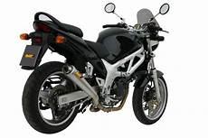 suzuki sv 650 exhaust mivv x cone stainless steel s 004