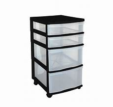 Plastic Drawers On Wheels by Clear Floor Storage 4 Drawers W Wheels Assorted