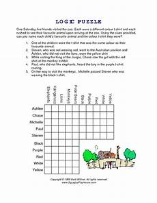 logic puzzle worksheets 5th grade 10845 logic puzzle going to the zoo worksheet for 4th 5th grade lesson planet