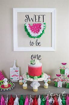 1st birthday decoration themes a watermelon birthday with cricut jen t by