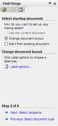 create mailing labels in word 2003 with mail merge
