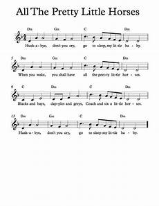 all the pretty little horses sheet music free sheet music free lead sheet all the pretty little