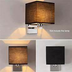 led cloth wall l sconce light for hotel reading bedroom bedside lighting ebay