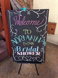bridal shower chalkboard sign black foam board from office depot made with pastels bridal