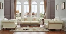 Italian Leather Living Room Furniture 2601 italian leather living room set by esf furniture