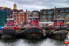 portsmouth tugboats in hdr three tugboats