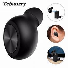 in ear bluetooth tebaurry new invisible wireless bluetooth earphone mini