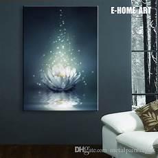 2019 led lights wall art canvas spray painting light up framed artwork peace of mind lotus