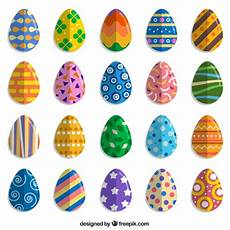 Bunte Ostereier Bilder - colorful easter egg collection vector free