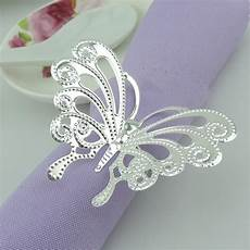 wholesale silver butterfly napkin rings wedding napkin holder christmas decoration holiday table