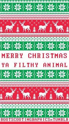 merry christmas ya filthy animal phone wallpaper festive phone backgrounds pinterest
