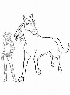 spirit and lucky coloring page coloring pages